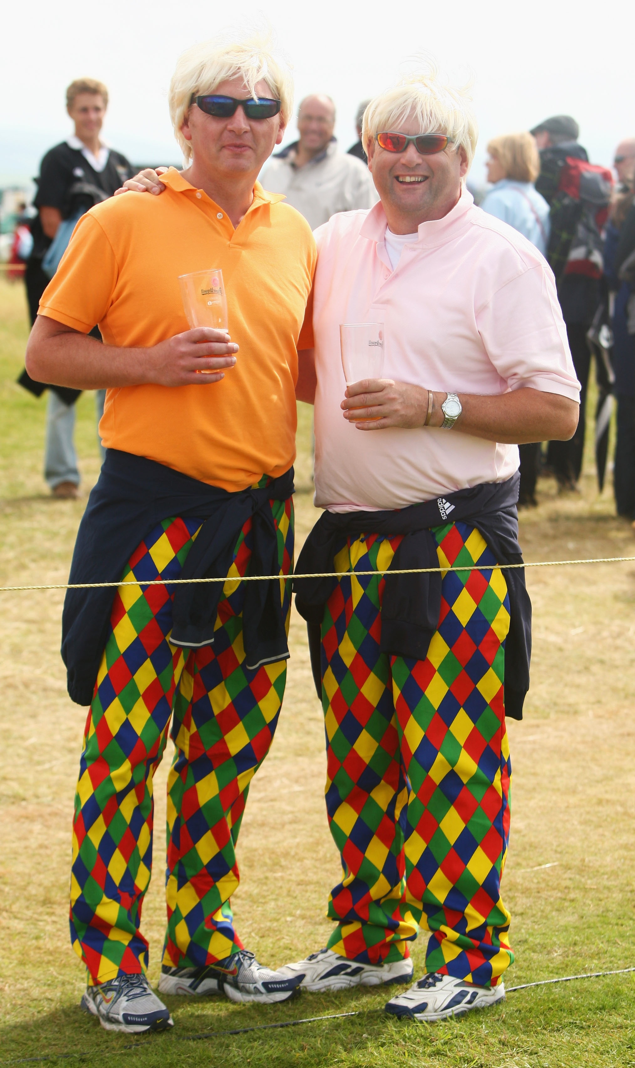 John Daly fans show their support in a colorful way.
