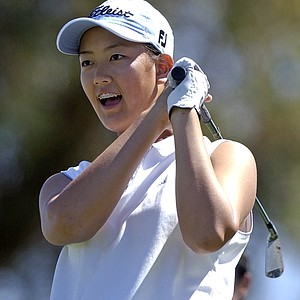 Michelle Wie, 13, during the third round of the 2003 Kraft Nabisco Championship.