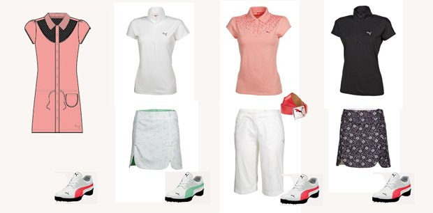 From Thursday to Sunday (left to right), here's what Anna Nordqvist will wear this week at the Kraft Nabisco Championship.