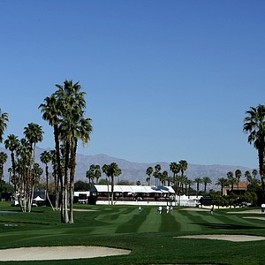 Hole No. 18 during Thursday's round of the Kraft Nabisco Championship on the Dinah Shore Tournament Course.