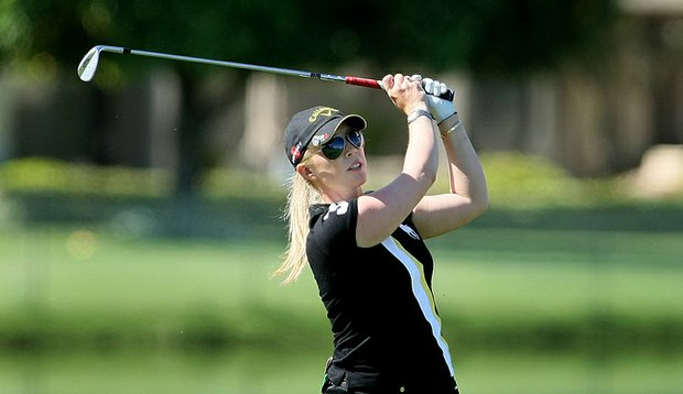 Morgan Pressel shot a 1-under 71 Thursday in the first round of the Kraft Nabisco Championship.