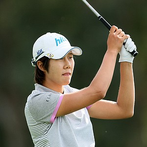 Song-Hee Kim shot a second round 68 to take the lead.