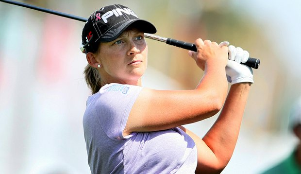 Angela Stanford bounced back from a first-round 78 to shoot 68 Friday at the Kraft.