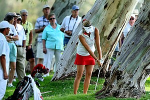 Alexis Thompson found trouble off the first tee.