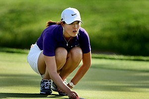 Michelle Wie during the third round. Wie shot a 71.