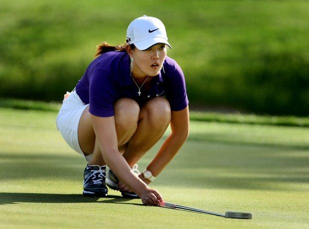 Michelle Wie during the third round. Wie shot a 71.