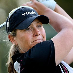 Karen Stupples is the leader after the third round.
