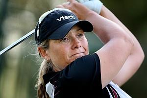 Karen Stupples is the leader after the third round.