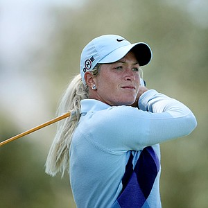 Suzann Pettersen finished one stroke behind the leader, Yani Tseng.