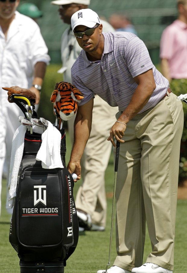 Tiger Woods at Augusta National on Sunday, April 4.