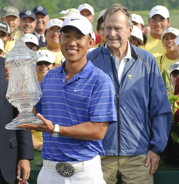 Anthony Kim after winning the Shell Houston Open.