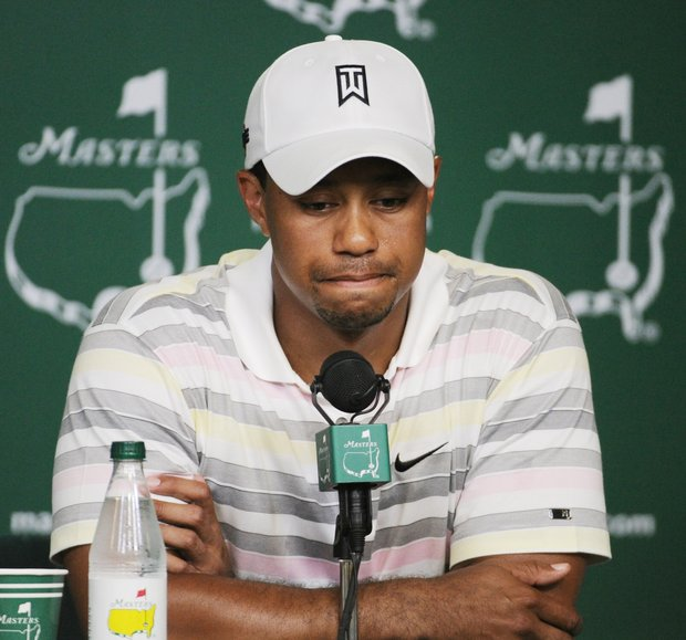Tiger Woods during Monday's press conference at the Masters.