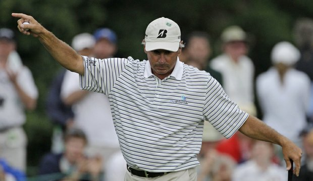 Fifty-year-old Fred Couples is atop the leaderboard after a 6-under 66 in the first round of the Masters.