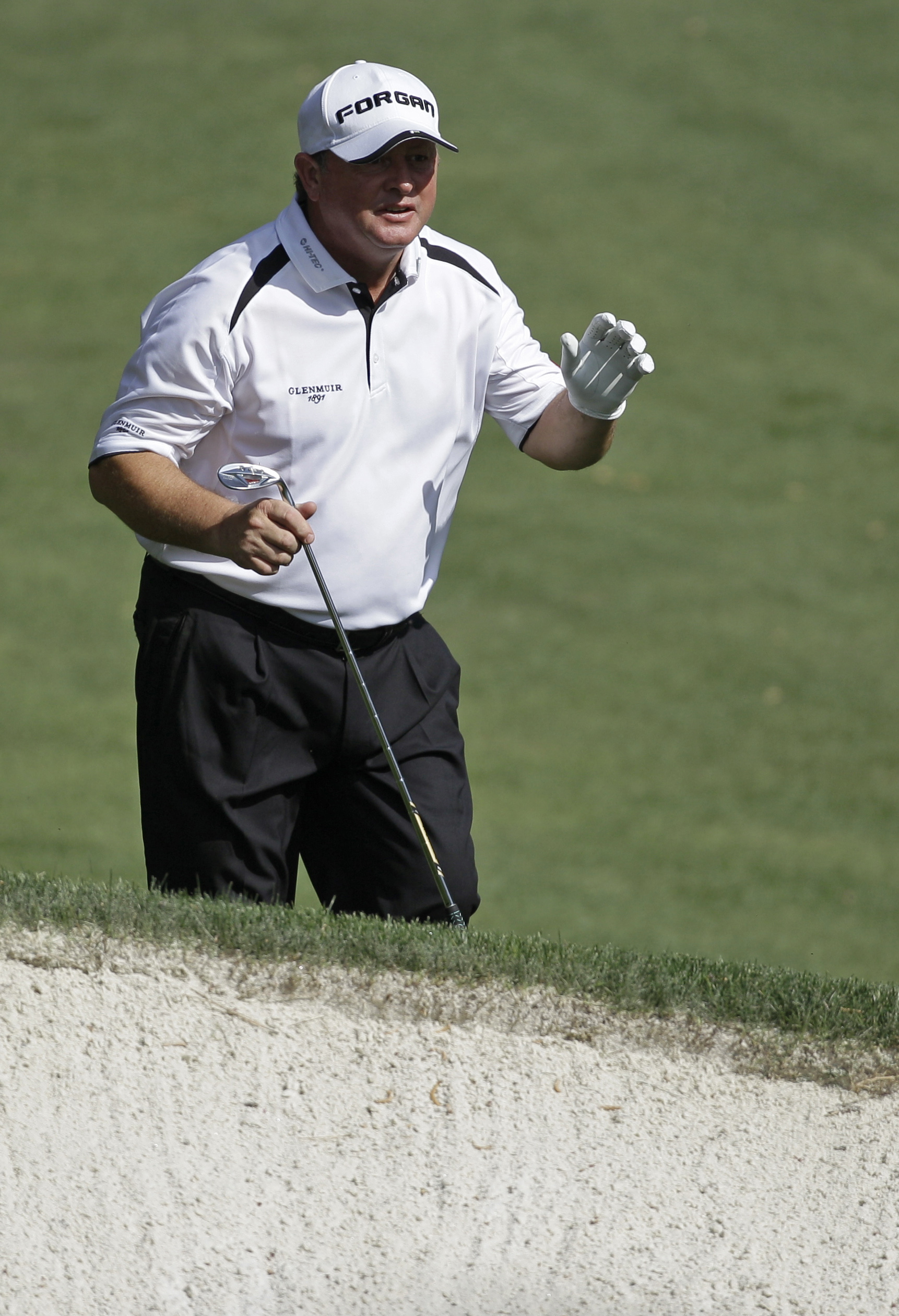 Ian Woosnam at No. 10 during the first round of the Masters.