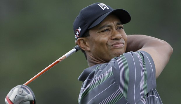 Tiger Woods hit the fairway with his first tee shot Thursday at Augusta National.