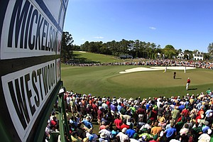 Phil Mickelson and Lee Westwood played in the final pairing during Sunday's final round of the Masters.