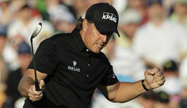 Phil Mickelson birdied the 18th hole and captured the third green jacket of his career Sunday at Augusta.
