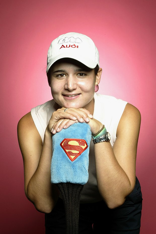 Lorena Ochoa poses for a portrait before the start of the LPGA Safeway Classic on September 25, 2003.