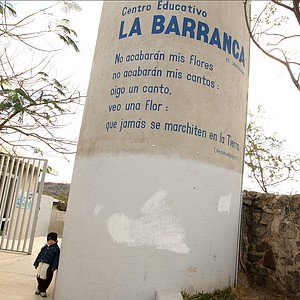 The education center of La Barranca funded by Lorena Ochoa's foundation.