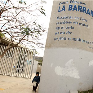 The education center of La Barranca funded by Lorena Ochoa's foundation.
