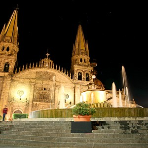 Cathedral in Guadalajara's historic center.