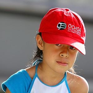 Nayelli Jazmin Gonzalez Gutierrez, 8, sports a Ochoa Golf Academy hat while practicing at the facility.