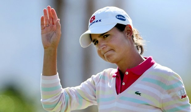 Lorena Ochoa during the first round of the Kraft Nabisco Championship.