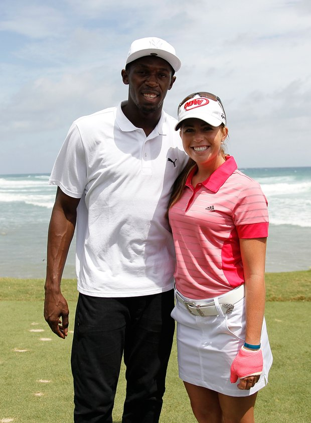 Usain Bolt and Paula Creamer at the Mojo 6.