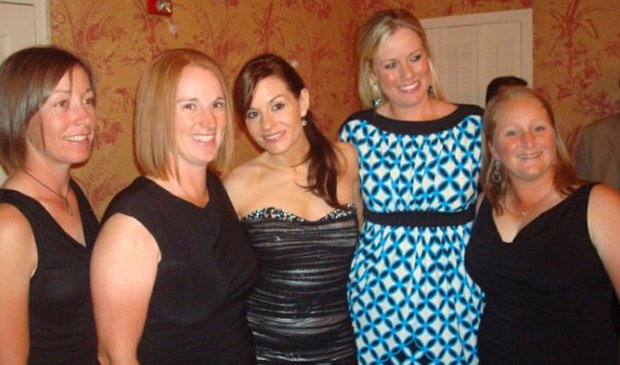 (Left to right) Danielle Downey, Lisa Strom, Kara DioGuardi, Brittany Lincicome, and Meredith Duncan