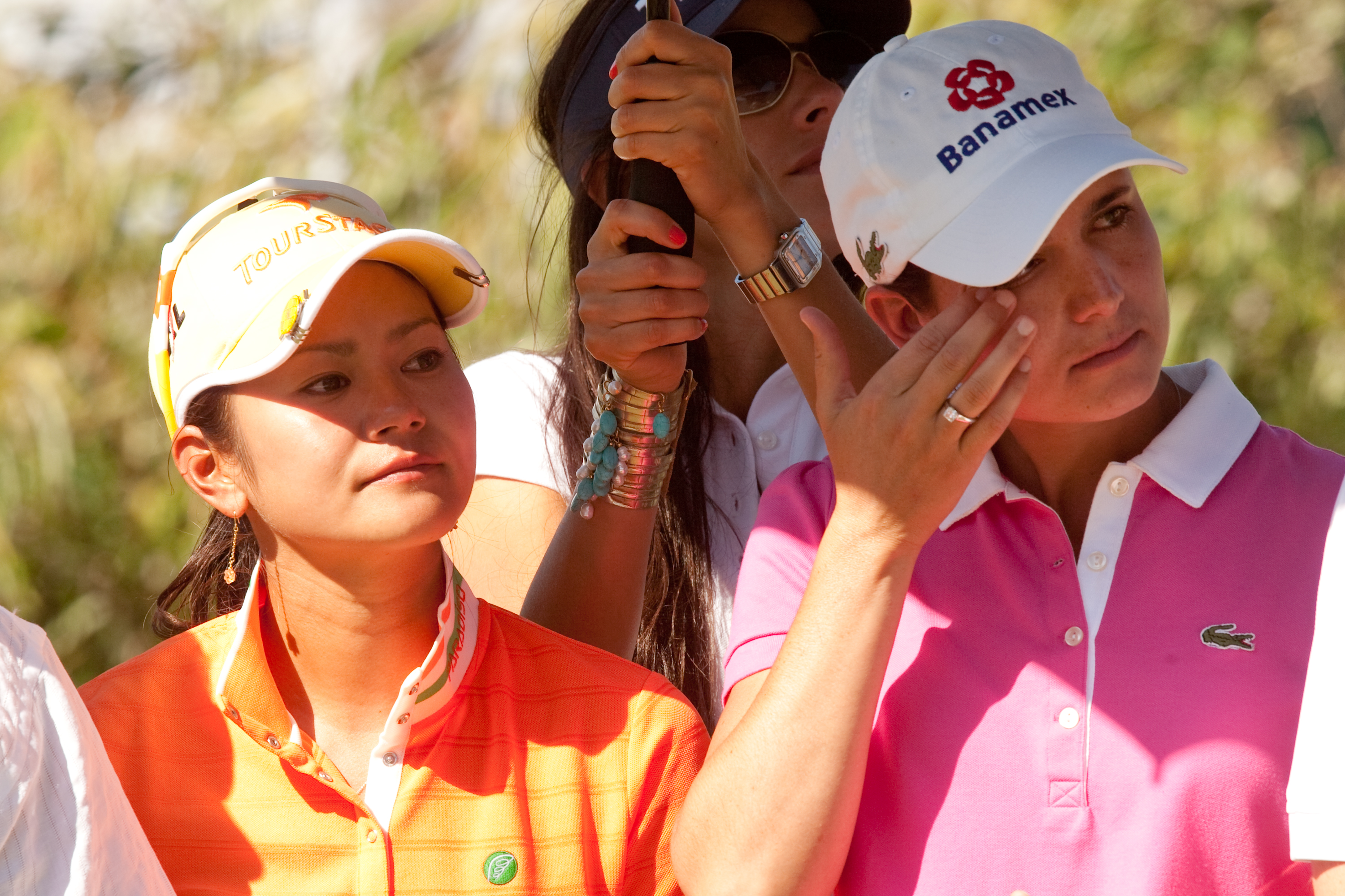 Ai Miyazato (left) won the Tres Marias Championship on May 2, as Lorena Ochoa said goodbye to the LPGA.