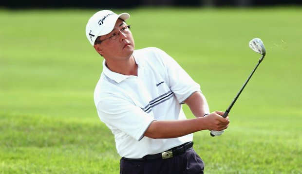 Do-kyu Park, seen here during the first round of the 2003 Caltex Masters, is representing the Korean golfers in their communications with the One Asia Tour.