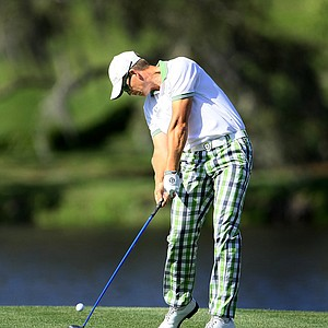 Henrik Stenson hits his tee shot at No. 16 during the second round of the 2010 Arnold Palmer Invitational at Bay Hill Club and Lodge.