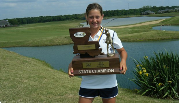 Eleven-year-old Brooke Dillon won the Louisiana State High School Championship last month.