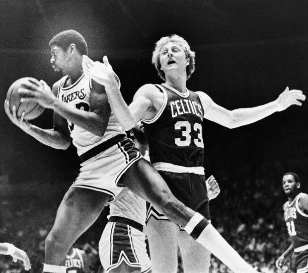 Magic Johnson and Larry Bird