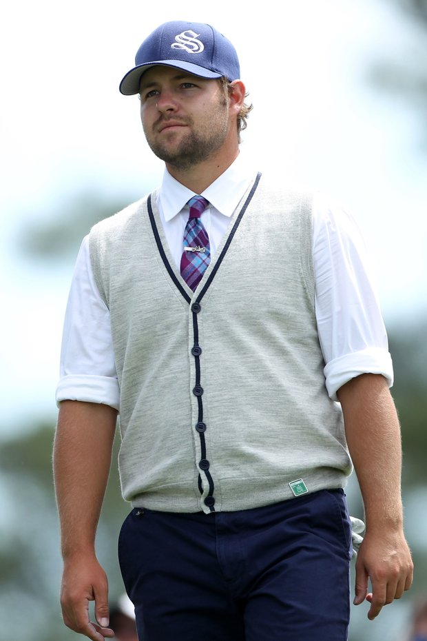 Ryan Moore's throwback style at the 2010 Masters.