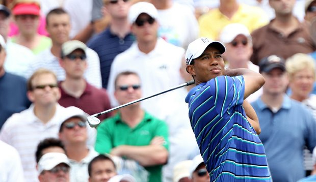 Tiger Woods shot 2-under 70 Thursday in the first round of The Players Championship.