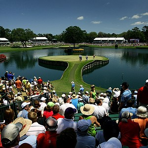 Hole No. 17 during Saturday's round of The Players Championship.
