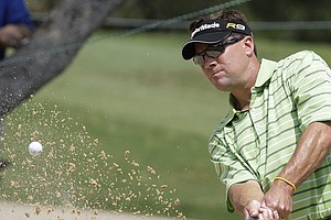 Paul Stankowski, seen here at last year's Valero Texas Open, is one stroke back of Matt Jones.