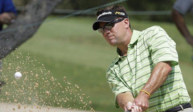Paul Stankowski, seen here at last year's Valero Texas Open, is one stroke back of Matt Jones.