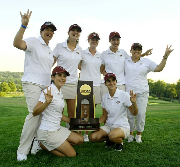 Arizona State celebrates after winning the 2009 national championship.