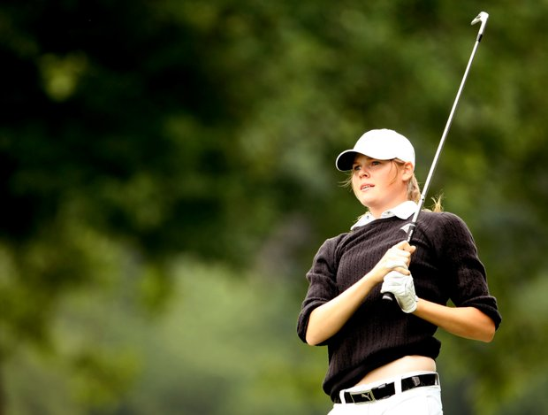 Maude-Aimee LeBlanc of Purdue at No. 8. She shot a 73 in her second round.