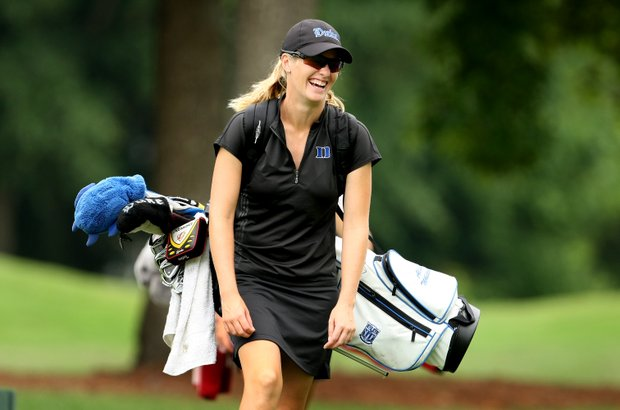 Duke's Alison Whitaker during the second round of the Women's NCAA Championship.