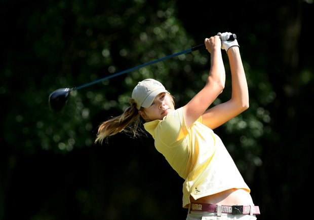 Purdue's Maude-Aimee LeBlanc is the top Boilermaker this week. She is tied for third after the third round.