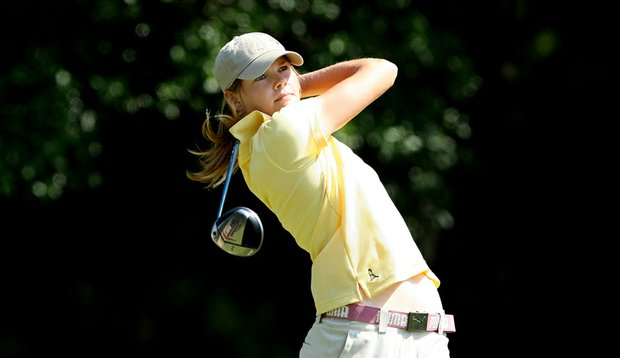 Purdue's Maude-Aimee LeBlanc is tied for third entering the final round of the NCAA Women's Championship.