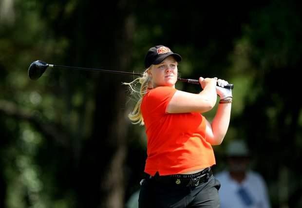 Oklahoma State's Caroline Hedwall won the individual title at the Women's NCAA Championship.