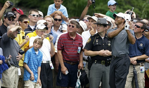 Tiger Woods during the Memorial Skins game on June 2.
