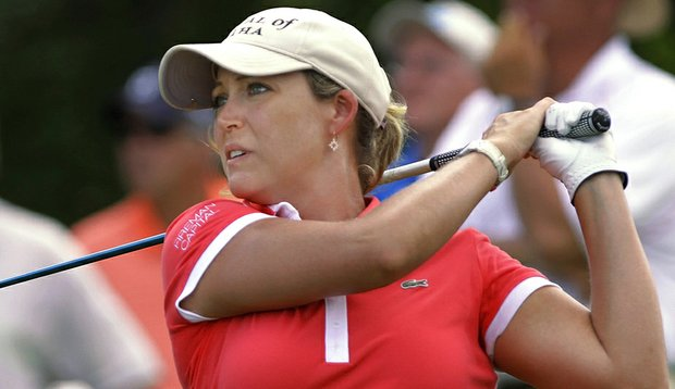 Cristie Kerr tees off at the State Farm Classic.