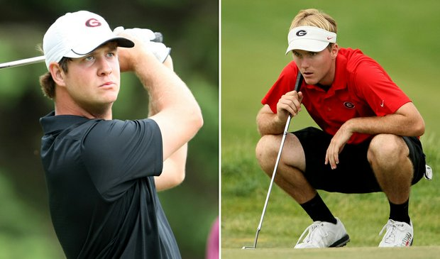 Hudson Swafford (left) and Russell Henley