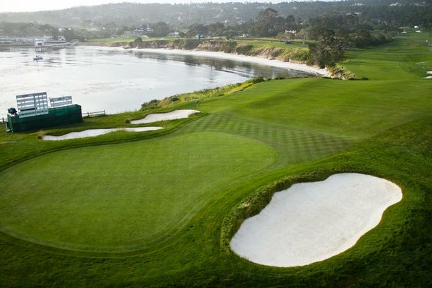 The 523-yard par-5 sixth at Pebble Beach Golf Links.