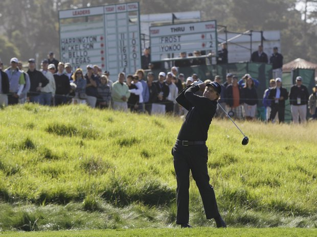 Phil Mickelson during Thursday's first round of the U.S. Open.